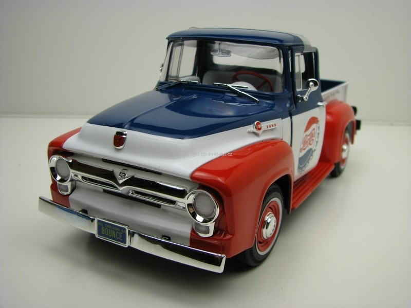 Ford F-100 Pick Up Pepsi Cola 1956 1:18 Ertl Auto World